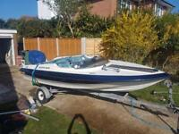 Dateline speed boat with trailer