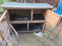 Free 2 storey rabbit hutch