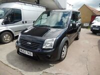 FORD TRANSIT CONNECT 90 T200 62 PLATE 2012 BLACK 96K MILES 1 OWNER FULL SERVICE HISTORY £3995 + VAT