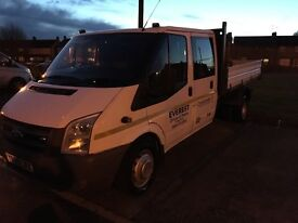 Ford Transit Double Cab 58 Reg Tipper