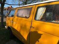 Yellow VW T25 for sale