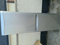 silver indesit fridge freezer frost free