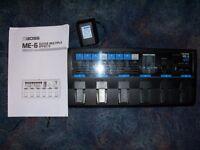 Boss ME6 effects processor