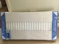 Double radiator 1200 x 600 brand new in packaging with brackets, vent & plug.
