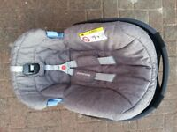 Mothercare Maine Baby Car Seat - grey - was £120 new