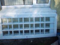 Glass paneled doors 762X198X35mm White