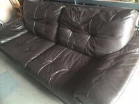 3 Seat Sienna Leather Sofa Great for Extra Sofa Space
