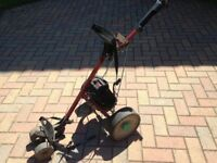 Hillbilly golf trolley with working battery, buyer collect. good condition £20
