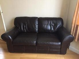 2 seater leather sofa needs to be gone asap