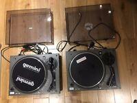 Pair of Gemini PT-1000 Direct Drive Turntables