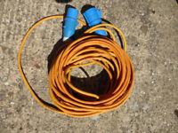 Caravan camping motorhome 25 metre electric hook up lead, vgc, only £10