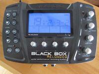 M-Audio Black Box Reloaded guitar FX/drum machine/USB interface plus pedal board