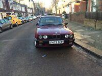 BMW E30 (1989) 320i - wine red with cream leather interior