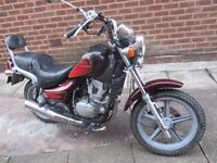 Hyosung 125 1995 low mileage great runner nice cruiser bike