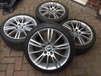 """GENUINE BMW 18"""" staggered MV3 193M M SPORT SPIDER SPYDER Alloys"""