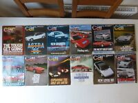 Vintage editions of CAR Maagazine. All 12 issues from 1984.