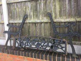 Lovely Old Rose & Vine Design Cast Iron Garden Bench 6 Sets Available- DELIVERY/COLLECTION
