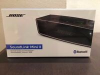 (BRAND NEW SEALED) Bose SoundLink Mini Bluetooth Speaker II WITH RECEIPT AND WARRANTY, SILVER