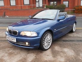 03 BMW 330CI CABRIOLET + 70K + FSH + NEW MOT
