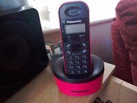 PINK PANASONIC CORDLESS PHONE
