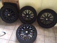 "Set of 4 17"" Matt Black CADES VIENNA alloy wheels"