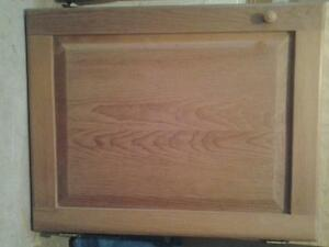 Set of 4 white pine doors