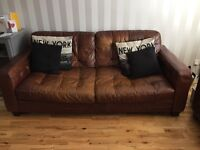 Free 3 seater leather sofa, must be collected