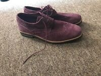 Burgundy Brogues - hardly worn - size 9
