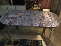 Hand crafted papered dinning table