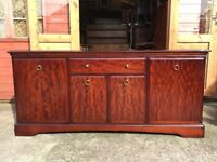 Stag Minstrel Mahogany Sideboard Long Unit Cupboards & Drawers - Delivery Available