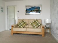 VGC LEATHER 3 SEATER MIRANDA STYLE SOFA AND MATCHING ARMCHAIR