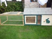 rabbit/guinea pig hutch and run