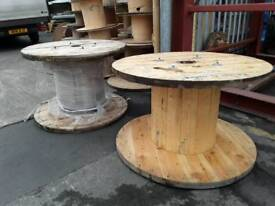 Cable reels , drums wooden reclaimed various sizes from 800mm to 1600mm diameter for upcycle