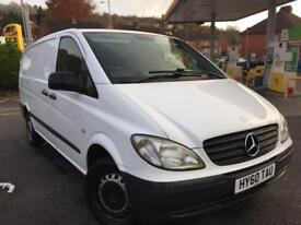MERCEDES VITO 2.1 CDI 109 MANUAL LONG WHEEL HPI CLEAR FSH NO VAT!!!! PX WELCOME