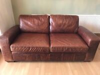 Next three seater leather sofa bed
