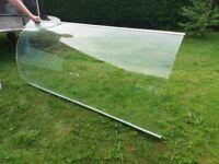 Curved Glass Shower Screen 185cmx90cm (S8)