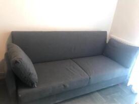 Ikea 2 seat sofa grey