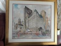 Plaza Hotel Street Parade Limited Edition print by K Kubic 1982