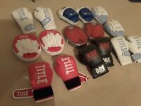 6 pairs of Boxing gloves and 5 sets of pads