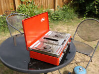 Camp Cooker. Tilley Talisman de luxe camp cooker 2 burners and grill gas bottle and camp kitchen