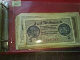 For sale old paper money.