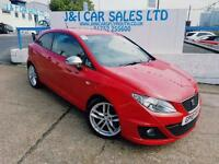 SEAT IBIZA 2.0 CR TDI FR 3d 140 BHP A GREAT EXAMPLE INSIDE AN (red) 2010