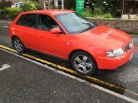 Audi A3 1.9TDI quattro; 2002; good condition; low mileage.