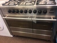 DIPLOMAT GAS COOKING RANGE DOUBLE OVEN AND GAS GRILL M WITH ELECTRIC FAN FREE DELIVERY 100cm wide