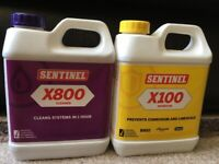 SENTINEL X100 INHIBITOR AND X800 CLEANER FOR CENTRAL HEATING SYSTEMS