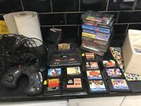Sega mega drive 2 with games