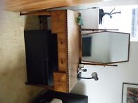 1920s? Wardrobe, Dressing table, Chair and Chest of Drawers