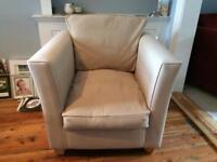 'Harry' Cream armchair from sofa workshop