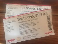 2 x The Downs Tickets - Elbow etc
