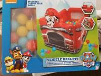 Brand New Paw Patrol Vehicle Ball Pit
